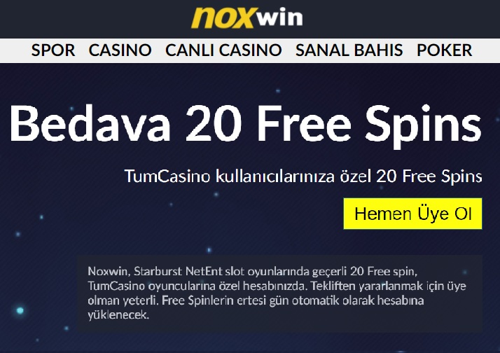 noxwin casino free spins